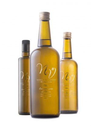 Bottiglie olio extravergine di oliva Novella e Vignolo